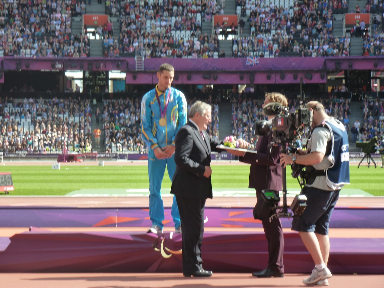 At the London 2012 Paralympics